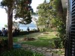 La terrasse de la Villa Santo Sospir, aujourd'hui, avec vue sur la mer