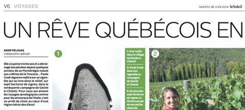 À voir dans les pages V6 et V7 de l'édition du 28 juin 2014 du journal Le Soleil.
