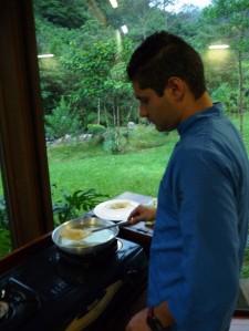 en cours de cuisine